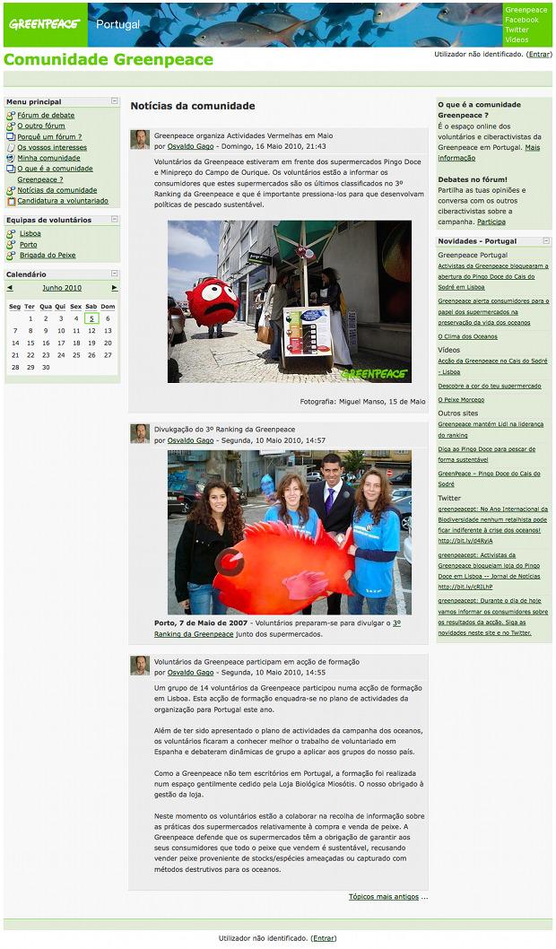 [ Greenpeace Portugal volunteers website ]