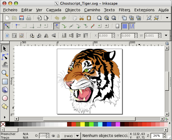 Inkscape, a free vector art editor